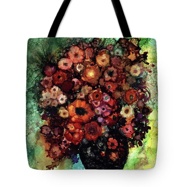 Blooms And Black Onyx Tote Bag