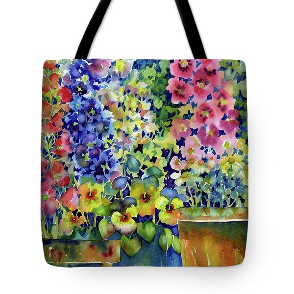 Blooms In Pots Tote Bag