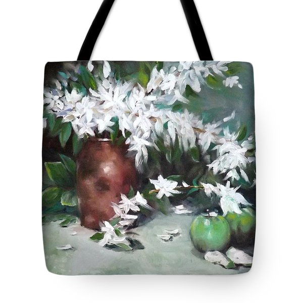 Blossom And Apples Tote Bag