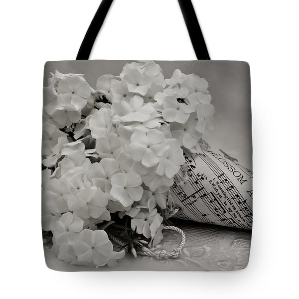 Blossom And The Bee Cornucopia  Tote Bag by Sandra Foster