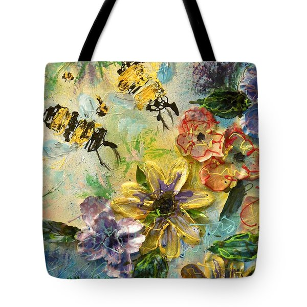 Blossom Buzz Tote Bag