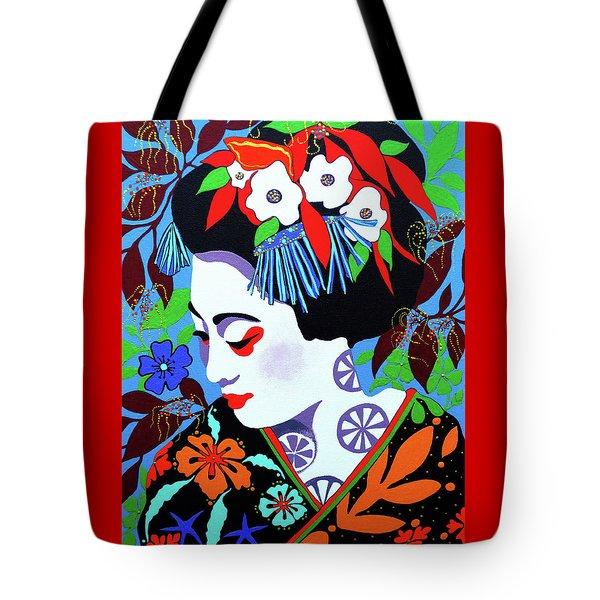 Blossom Tote Bag by Debbie Chamberlin