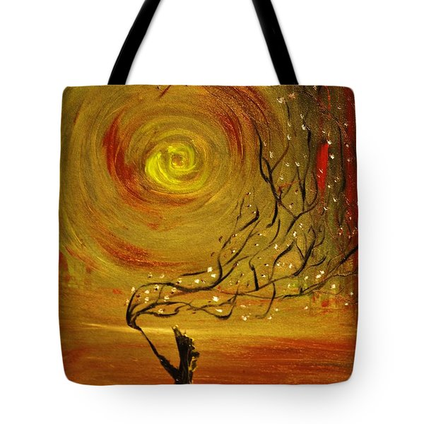 Tote Bag featuring the painting Blossom by Evelina Popilian