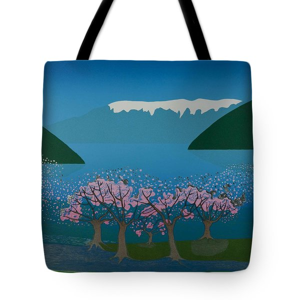 Blossom In The Hardanger Fjord Tote Bag by Jarle Rosseland