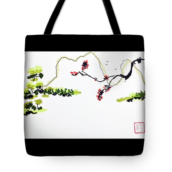 Blossom Mountain Tote Bag