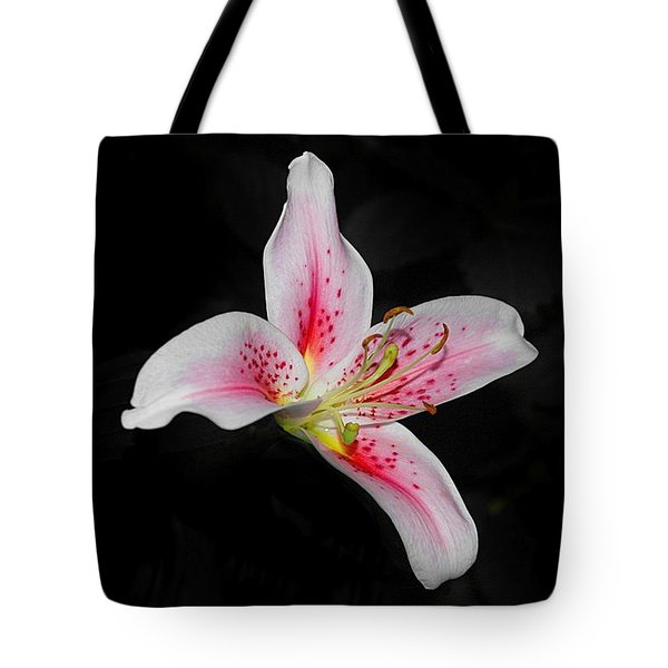 Blossom On Black Tote Bag