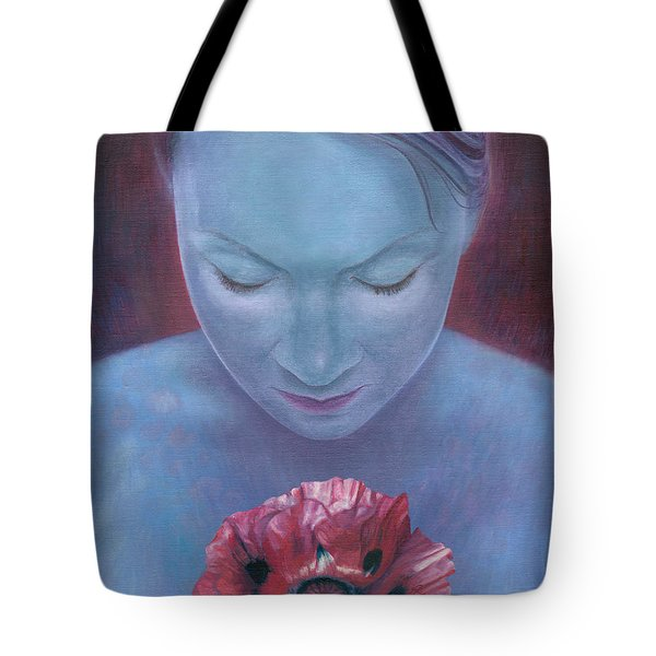 Tote Bag featuring the painting Blossom by Ragen Mendenhall