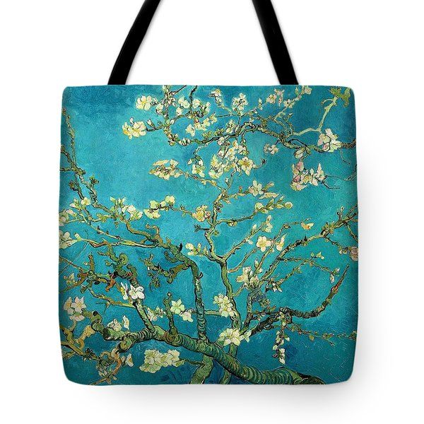 Tote Bag featuring the painting Blossoming Almond Tree by Van Gogh