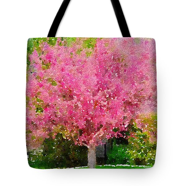 Blossoming Crabapple Tree Tote Bag by Donald S Hall