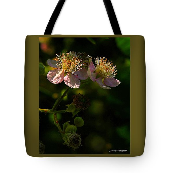Blossoms 3 Tote Bag by Steve Warnstaff