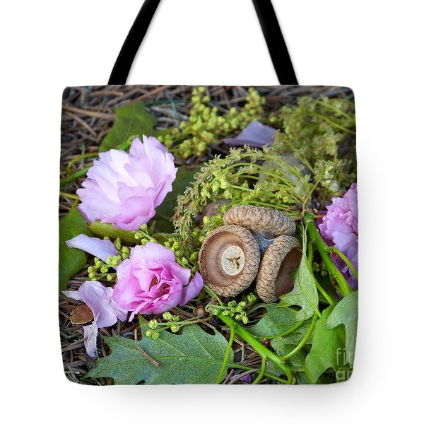 Tote Bag featuring the photograph Blossoms And Acorn by Charles Robinson