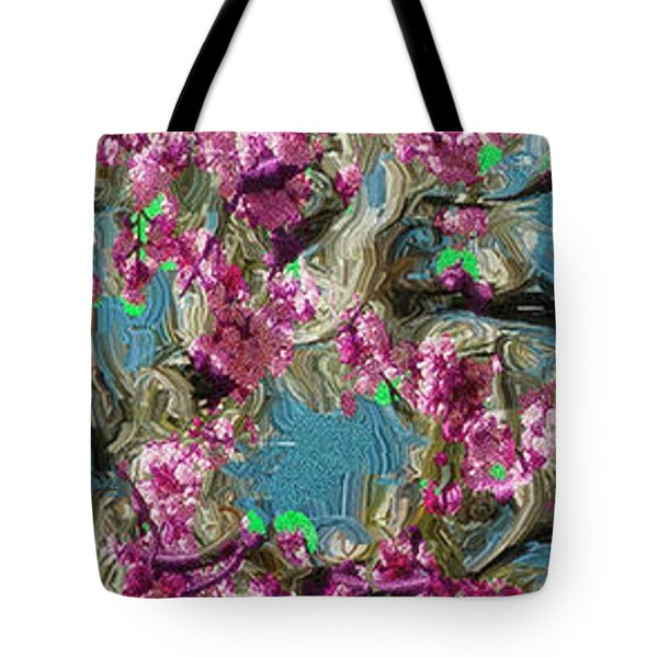 Tote Bag featuring the digital art Blossoms And Branches by Dale Stillman