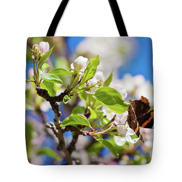 Blossoms And Butterfly Tote Bag