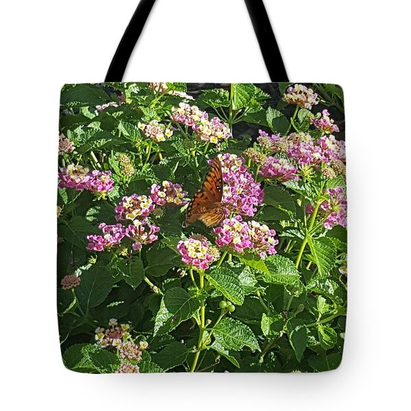 Blossoms And Wings #2 Tote Bag by Rachel Hannah