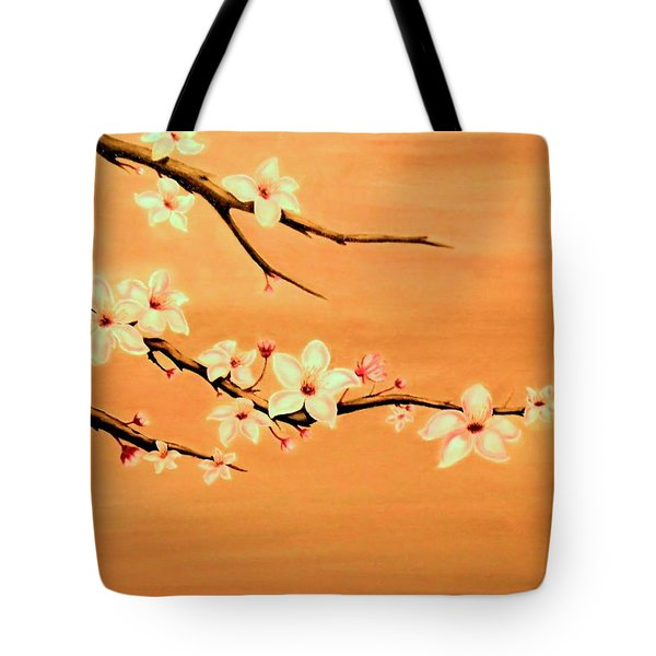 Blossoms On A Branch Tote Bag