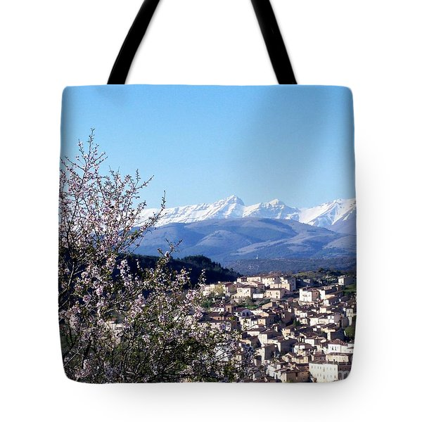 Tote Bag featuring the photograph Blossoms With A View by Judy Kirouac