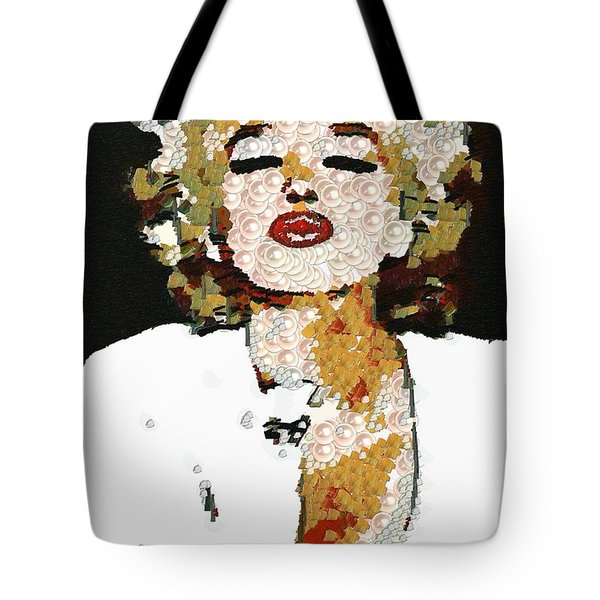 Blow Me A Kiss Marilyn Monroe In The Mix Tote Bag