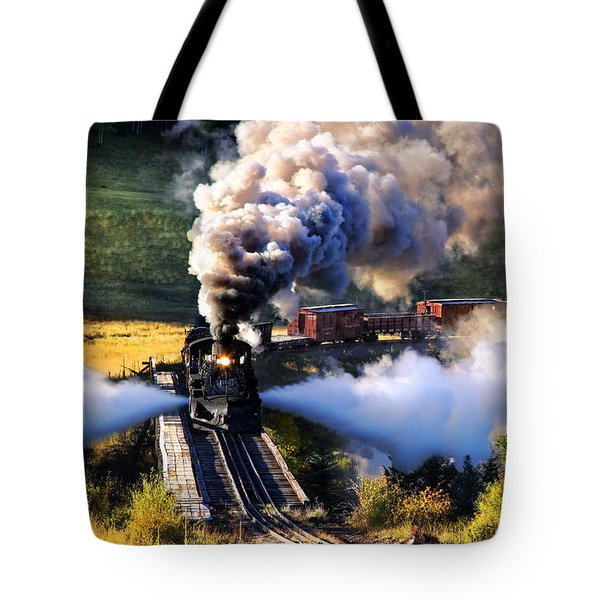 Tote Bag featuring the photograph Blowdown On Lobato Trestle by Ken Smith