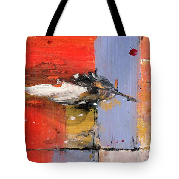 Blowin In The Wind - Colorful Linear Abstract Art Study Tote Bag