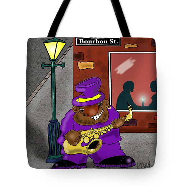 Blowin' On Bourbon Tote Bag by Kev Moore