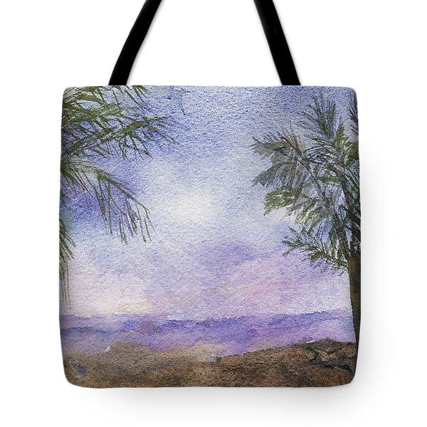 Tote Bag featuring the painting Blowing By The Ocean by Vicki  Housel