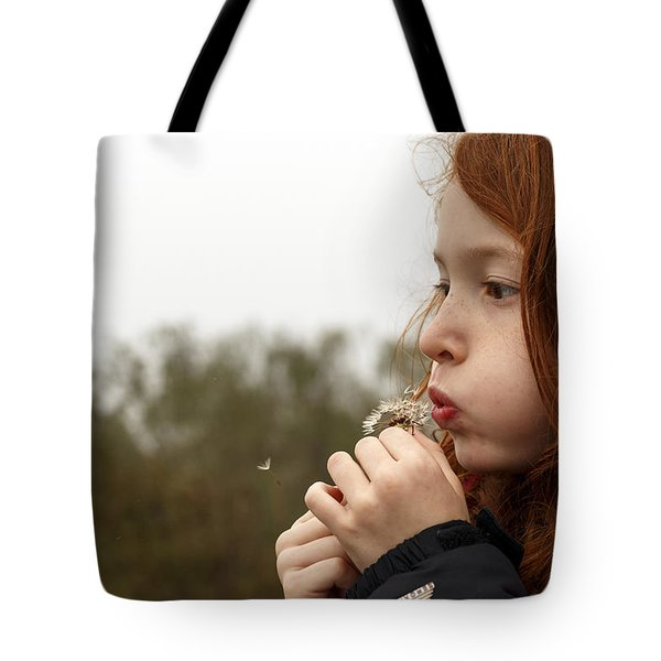 Blowing Dandelions Tote Bag