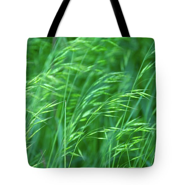 Blowing Green Tote Bag