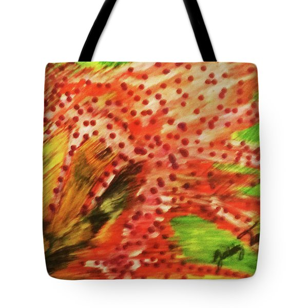 Walking Against The Wind Tote Bag