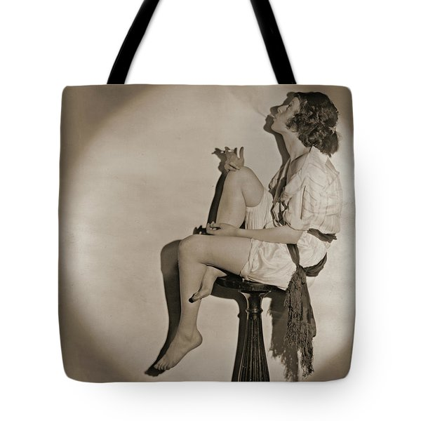 Tote Bag featuring the photograph Blowing Smoke 1922 by Padre Art