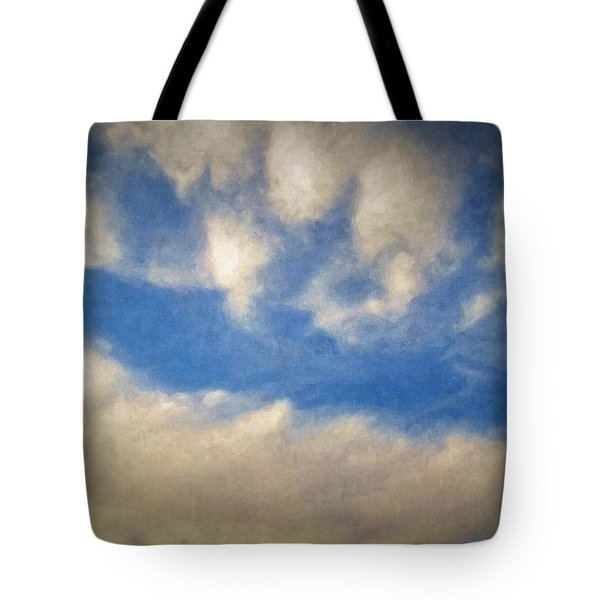 Blown Into A Soft Sky Tote Bag