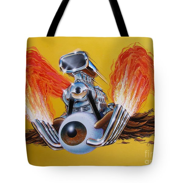 Blown Eyeball Tote Bag