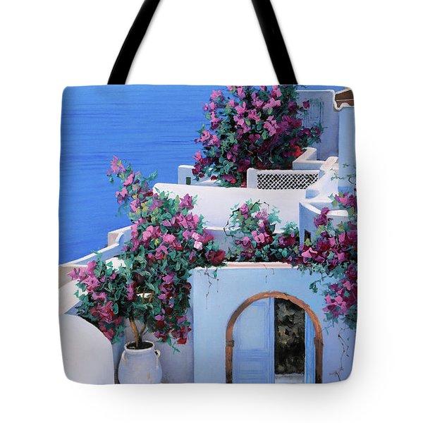 Blu Di Grecia Tote Bag