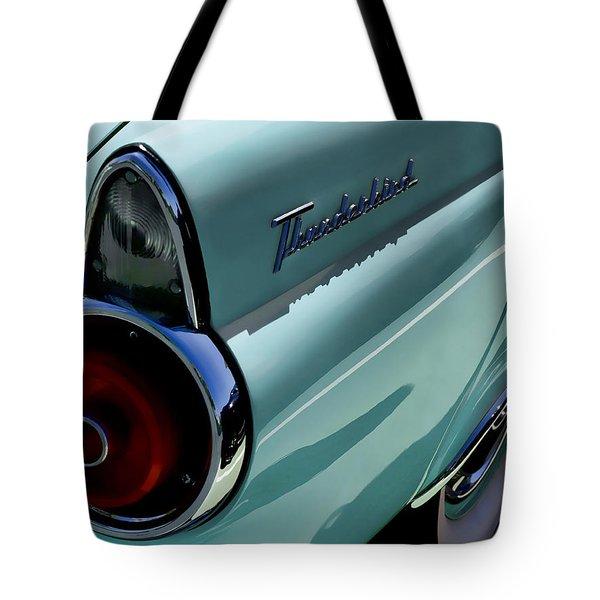 Blue 1955 T-bird Tote Bag by Douglas Pittman