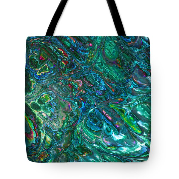 Blue Abalone Abstract Tote Bag