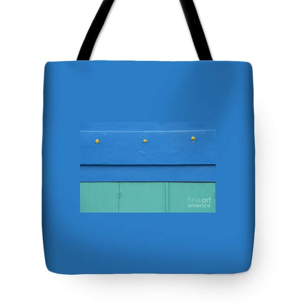 Blue Architectural Detail Tote Bag by Juli Scalzi