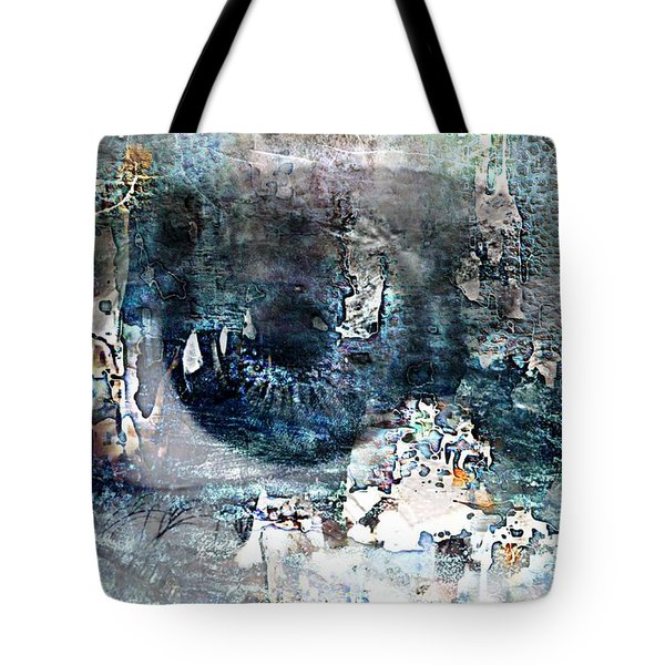 Blue Abstract Eye Tote Bag by Lynda Payton