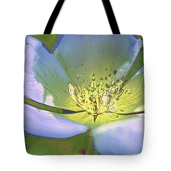 Tote Bag featuring the photograph Blue Abstract Flower by Paula Porterfield-Izzo