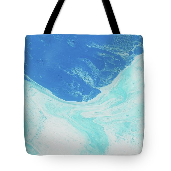 Tote Bag featuring the painting Blue Abyss by Nikki Marie Smith