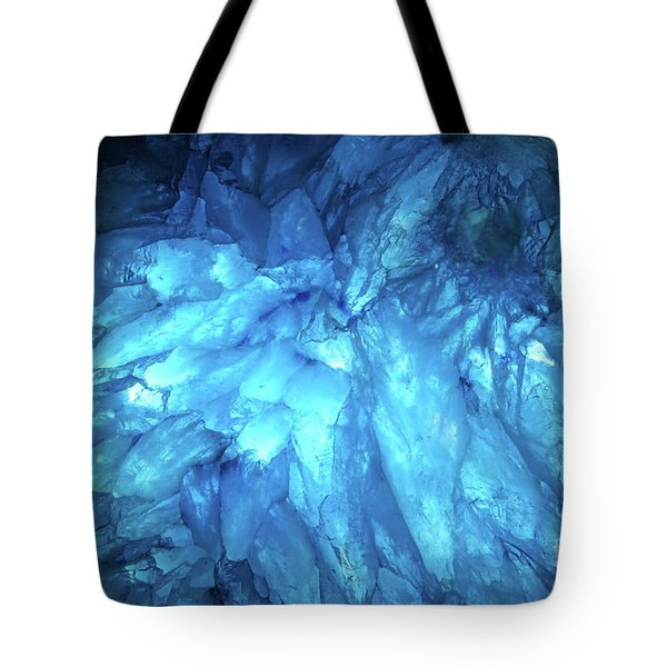 Blue Agate Tote Bag by Nicholas Burningham