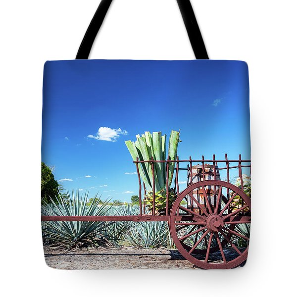 Blue Agave On A Wagon Tote Bag