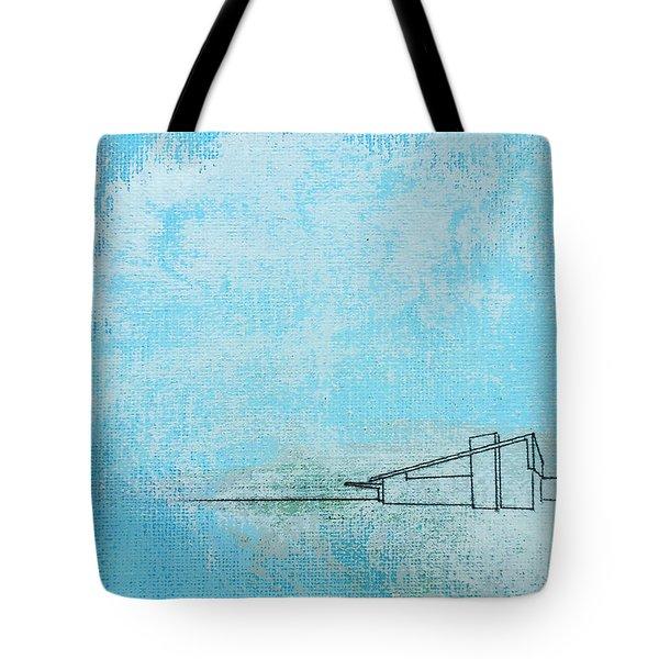 Blue Alexander White Mist Tote Bag
