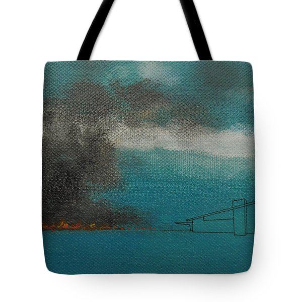 Blue Alexander With Brush Fire Tote Bag