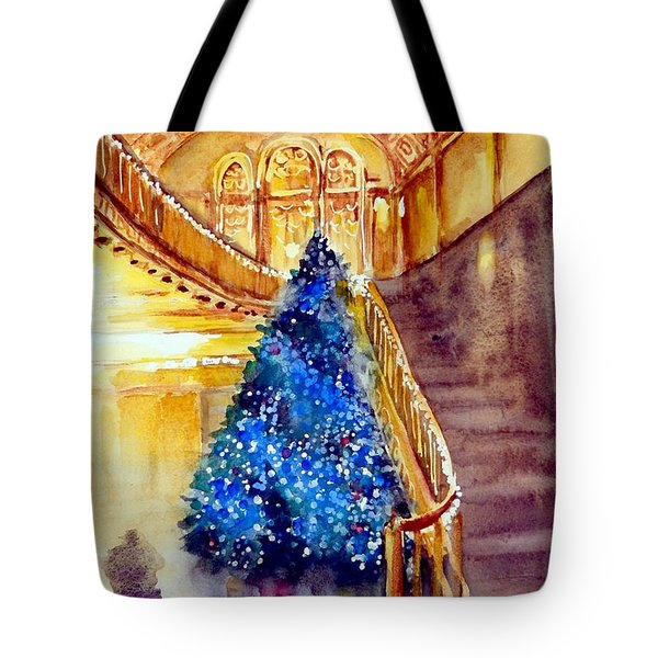 Blue And Gold 2 - Michigan Theater In Ann Arbor Tote Bag by Yoshiko Mishina