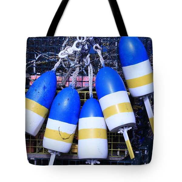 Blue And Gold Bouys Tote Bag