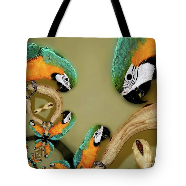 Blue And Gold Macaw Parrot Abstract Tote Bag