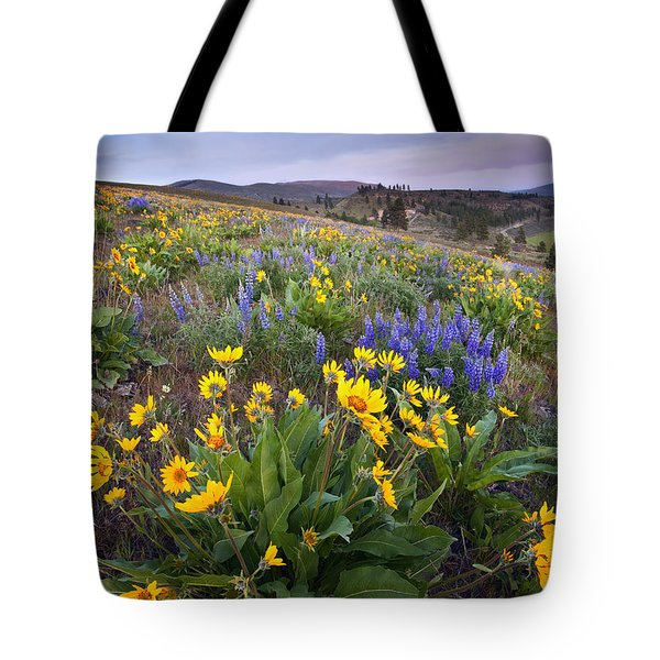Blue And Gold Tote Bag by Mike  Dawson