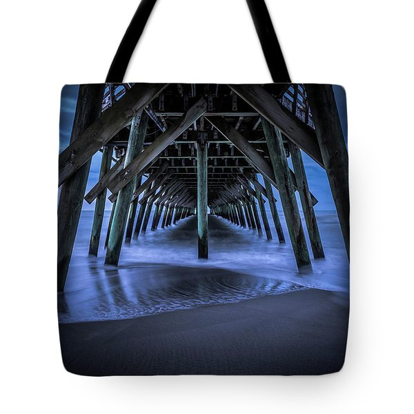Blue And Gray Tote Bag