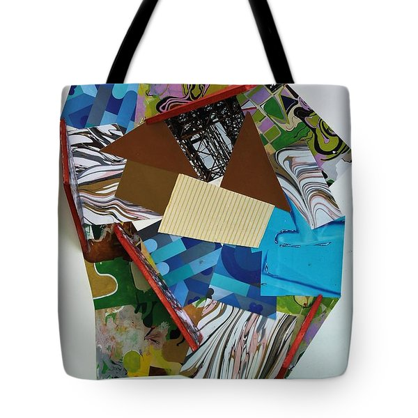 Blue And Green Abstract Tote Bag