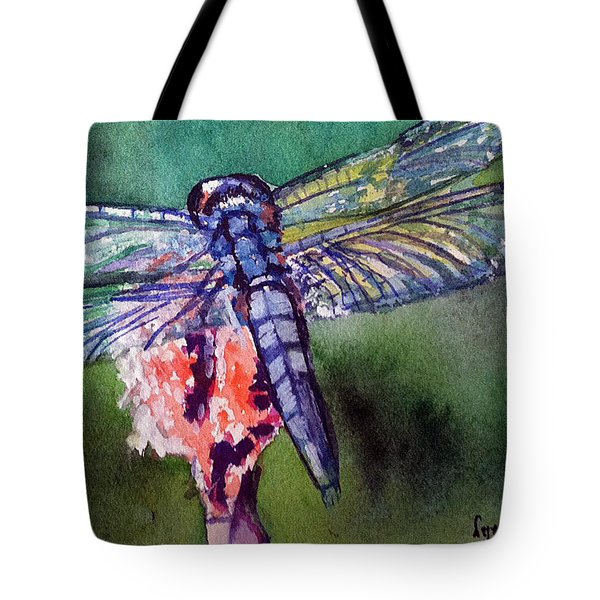 Blue And Green Dragonfly Tote Bag