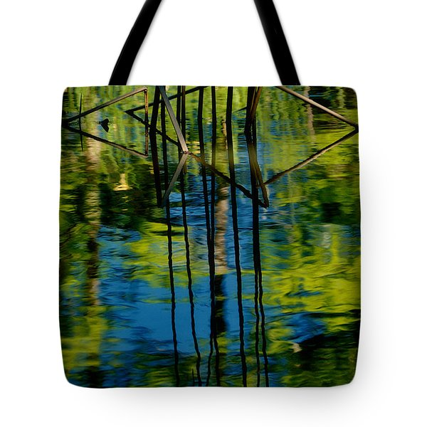 Blue And Green Pool Tote Bag